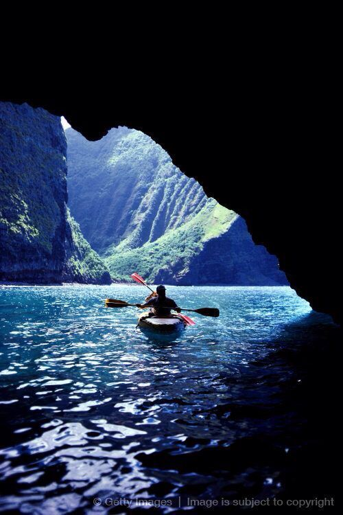 Kayaking through caves #kayak #kayaker #kayaking
