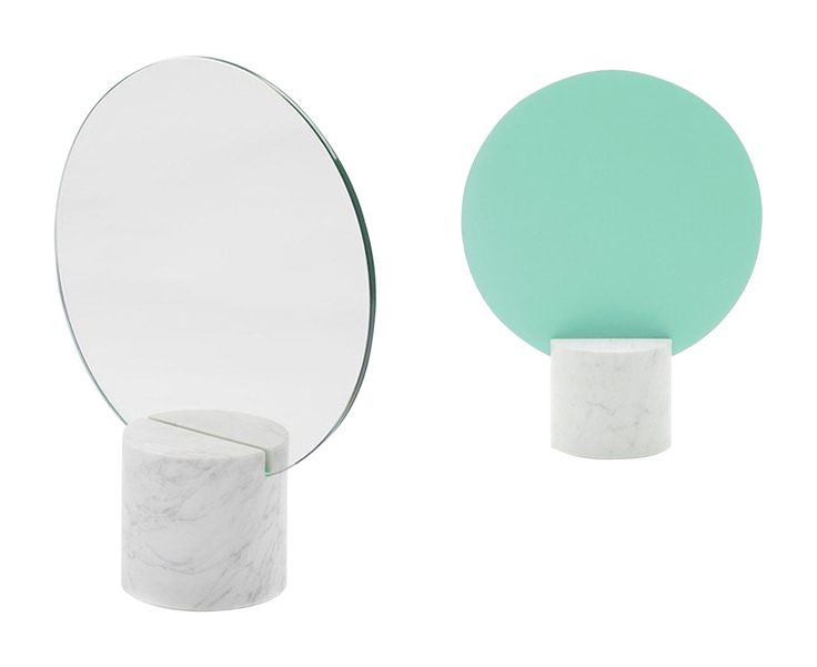 Buy Sun Marble Table Mirror by DSHOP - Made-to-Order designer Accessories from Dering Hall's collection of Contemporary Mirrors.