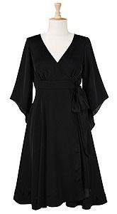 flowy black dress - plus size