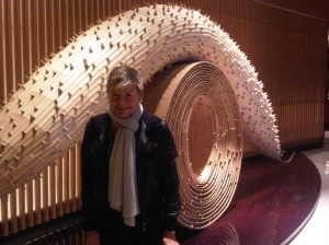 Bamboo sculpture called Lying Dragon Gate, by Japanese female artist Keisen Hama at The Peninsula Tokyo