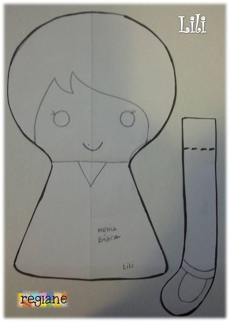 Lili Molde Boneca de pano e feltro [serelepe]