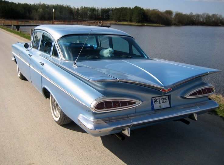 1959 Chevrolet BelAir. Not exactly sexy in my opinion, but when I was 5 or 6, the neighbors across the driveway had one of these.