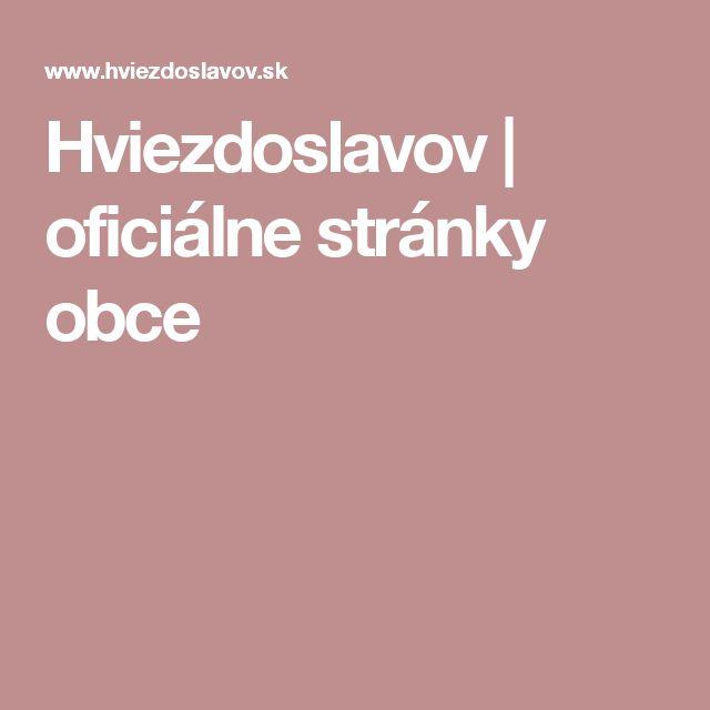 Hviezdoslavov | oficiálne stránky obce