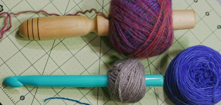 Winding yarn into tidy little cakes can be very satisfying and you don't need a ball winder to do it.