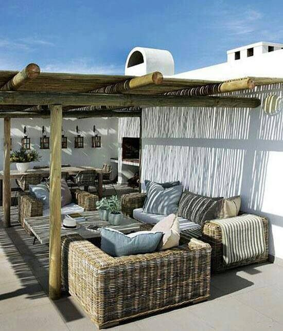 Terraza estilo griego