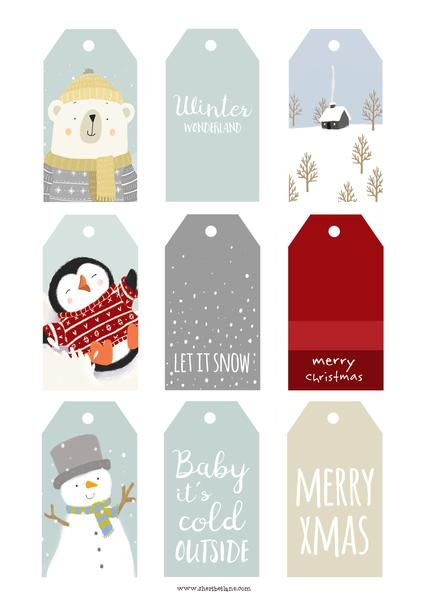 25 unique free printable santa letters ideas on pinterest santa a free set of cute diy christmas gift tags to print outick negle Images