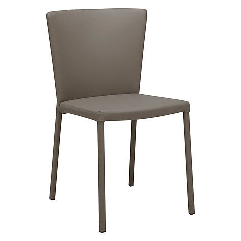 John Lewis Dominique Dining Chair, black | Taupe, John ...