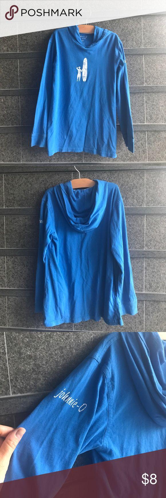 "Johnnie-O hooded tee Boys (or girls!) Johnnie-O ""West Coast Prep"" hooded long sleeve tee. Relaxed casual style from Johnnie-O! johnnie-O Shirts & Tops Sweatshirts & Hoodies"