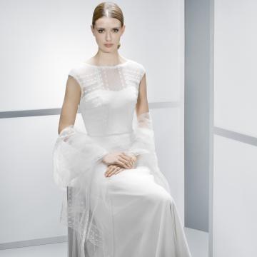 Tyl Zip Spuštený Levné svatební šaty