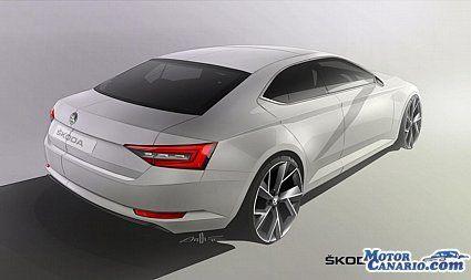Así es la nueva berlina Skoda Superb de tercera generación.