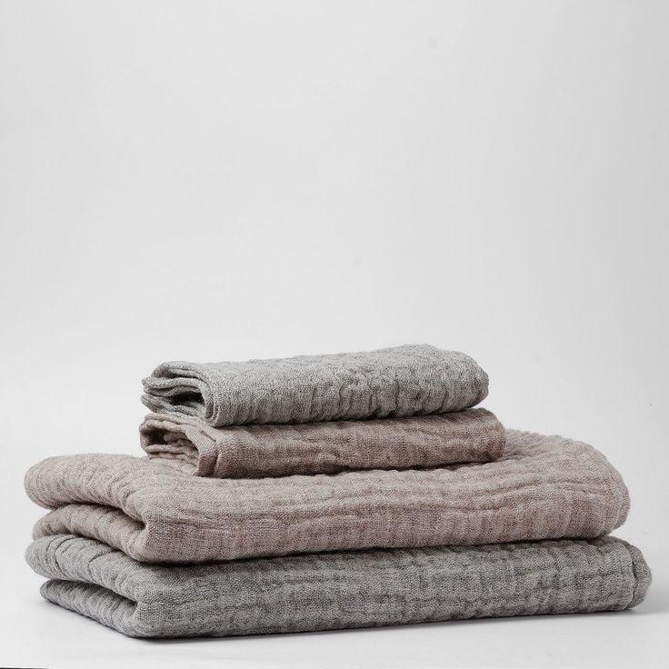 Une place sur la Terre | Double Gauze Linen Bath Towel - Analogue Life