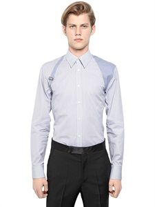 ALEXANDER MCQUEEN - STRIPED COTTON POPLIN HARNESS SHIRT - LUISAVIAROMA - LUXURY SHOPPING WORLDWIDE SHIPPING - FLORENCE