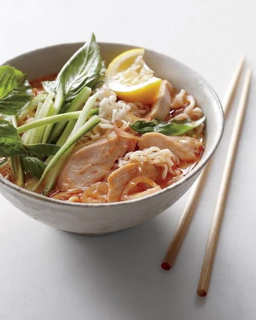 Coconut-Curry Noodle Soup: Noodles, Food, Coconut Curry Noodle, Soup Recipe, Martha Stewart, Noodle Soups, Curries