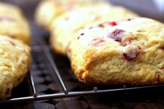 meyer lemon and cranberry scone by smitten via Flickr.