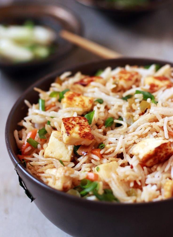 paneer fried rice recipe   Easy paneer recipes