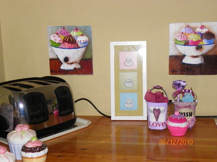 Frothy cupcakes all over the kitchen