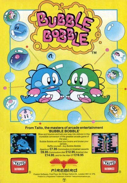Bubble Bobble ad in Zzap!64 magazine (November 1987).