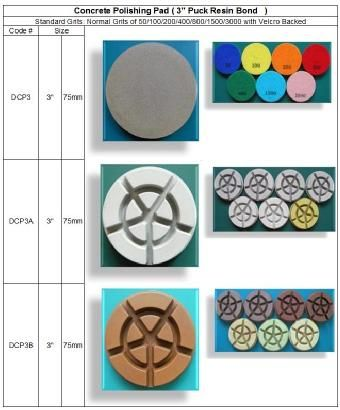 Concrete Polishing 3'' Puck Resin Bond  made in Korea guarantees consistent high quality. http://www.gobizkorea.com/catalog/product_view.jsp?blogId=stonetools&pageVol=50&listStyle=L&objId=1024688 Following is our online catalog supported by Korea government;  http://stonetools.gobizkorea.com sales@stonetools.co.kr  http://stonetools.gobizkorea.com https://www.facebook.com/StonePolishingPads http://www.linkedin.com/company/stonetools-korea http://www.stonetools.co.kr…