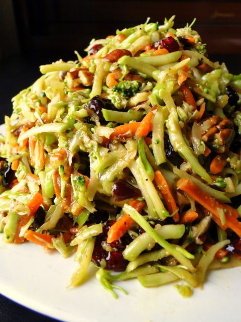I love slaw! Great thing to prepare a whole lot of and just have for a side dish during the week to grt your dose of raw leafy green veggies!  Of course abstaining from mayo is the key to a nice healthy slaw ;)