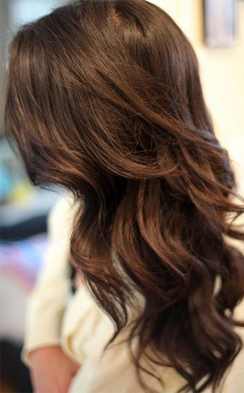 Chocolate-colored hair for winter 2014? We approve!