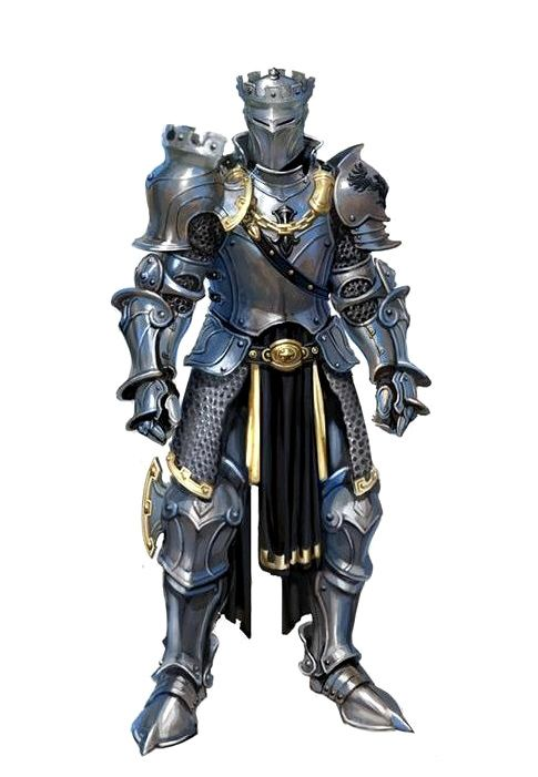 Human Fighter Knight Armor - Pathfinder PFRPG DND D&D d20 fantasy