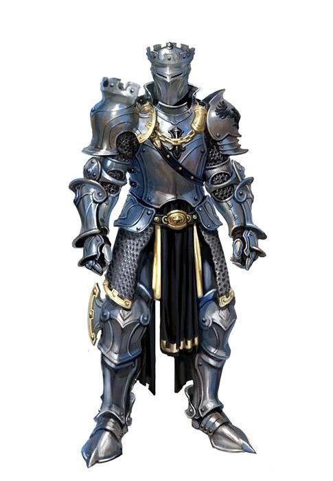 Human Fighter Knight Armor - Pathfinder PFRPG DND D&D d20 fantasy