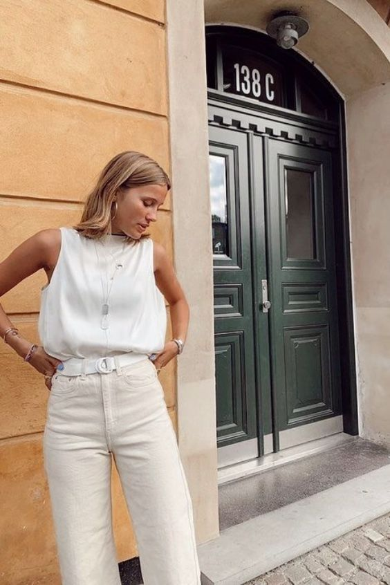 All White Minimal Outfits For Summer