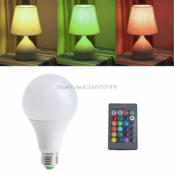 1PC Remote Control Wireless 85-265V E27 LED 20W 16 Colors RGB Table Lamp Light Bulb #G205M# Best Quality #Affiliate