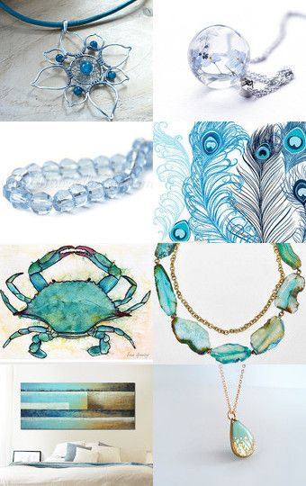 wonderful blues by Marzena on Etsy--Pinned with TreasuryPin.com