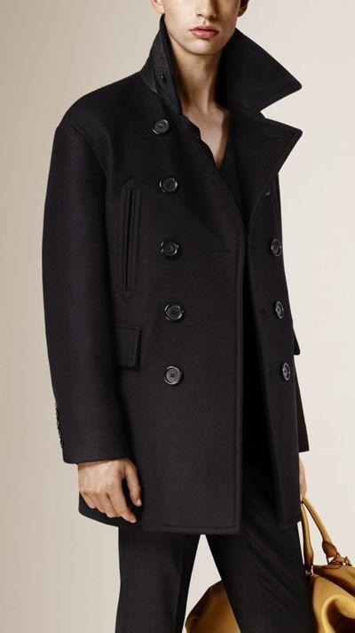 Virgin Wool Blend Pea Coat