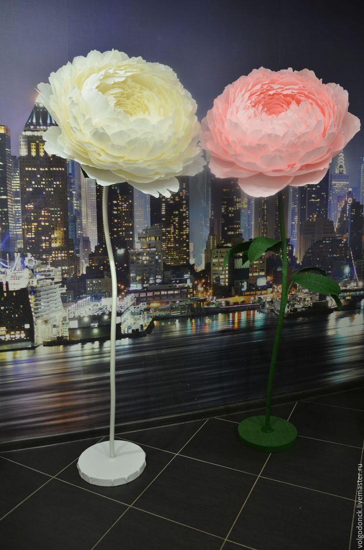 Купить Большие цветы из бумаги - большие цветы, цветы из бумаги, ростовые цветы, фотозона, бутафория