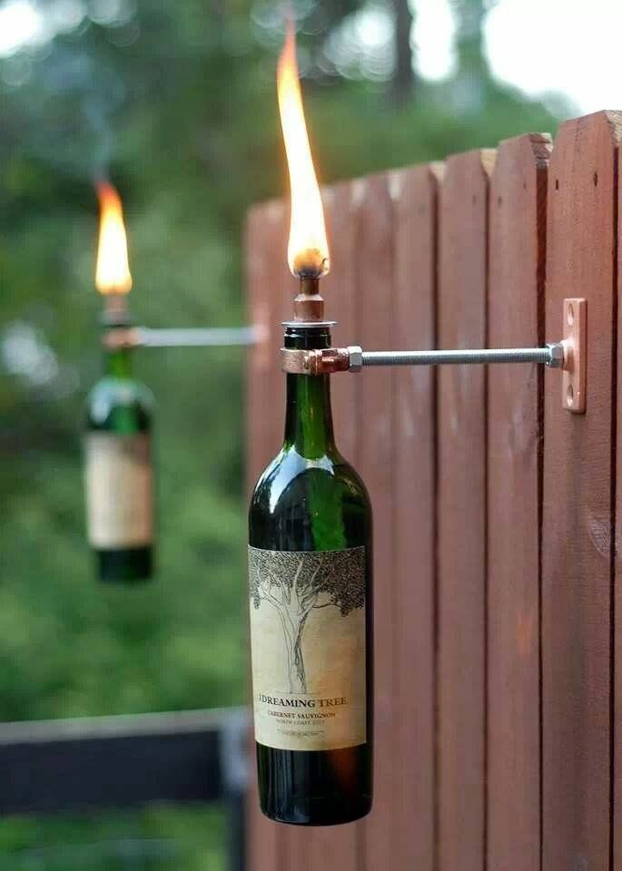 <3 Dave Matthews Band ~ Check out our wine bottles in a whole new light! Thanks to Bruno B. for sharing this photo of his latest project with us. What's your favorite way to reuse The Dreaming Tree Wine bottles? — with Elaine C. Brandwine and Bruno Barros.