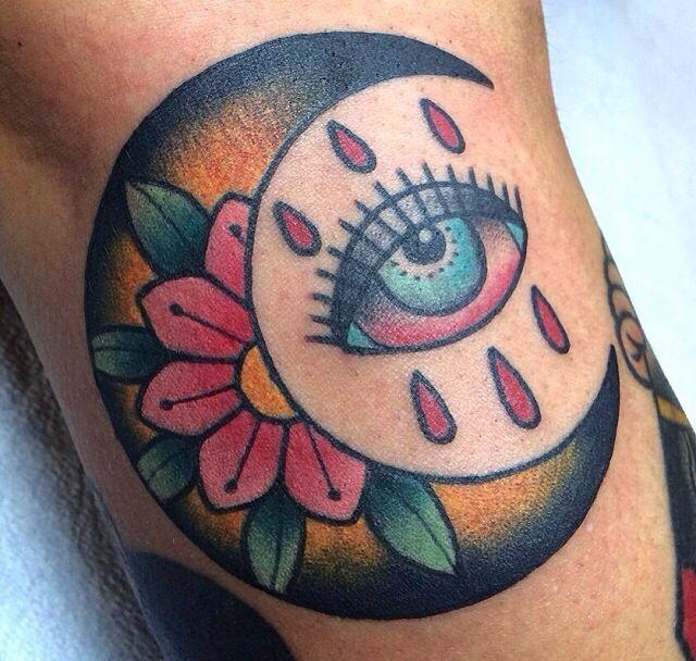 Eye Moon Flower Drops