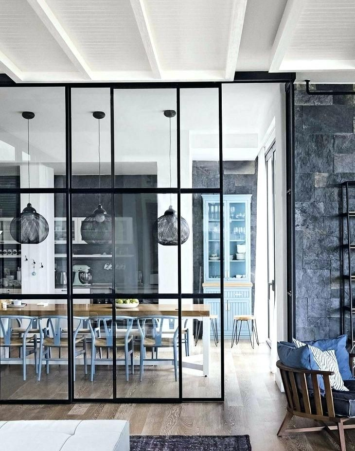 Glass Wall Divider Astonishing Divider Design For Kitchen And
