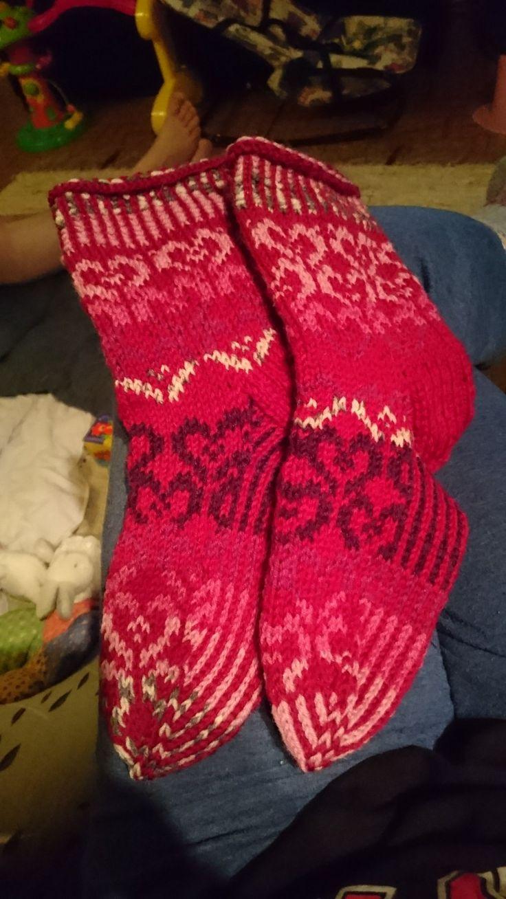 Novitan Ystävänpäivä sukka malli