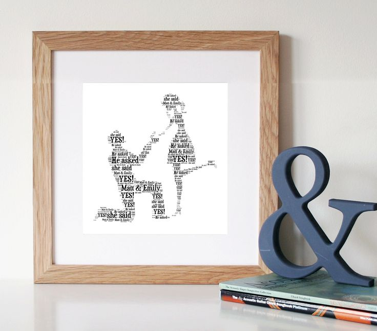 PERSONALISED Engagement Gift - Word Art - Printable Art - Digital Art Print - Unique Engagement gift - Engagement Gift by WordlyDesigns on Etsy https://www.etsy.com/listing/193674724/personalised-engagement-gift-word-art