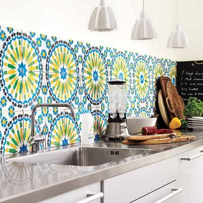 clever backsplash idea -- use large-format floor tile! Photo: Debi Treloar/IPC Images | thisoldhouse.com