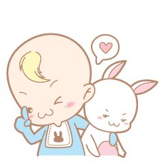 Baby and Bunny : Debut (Eng) – LINE stickers   LINE STORE