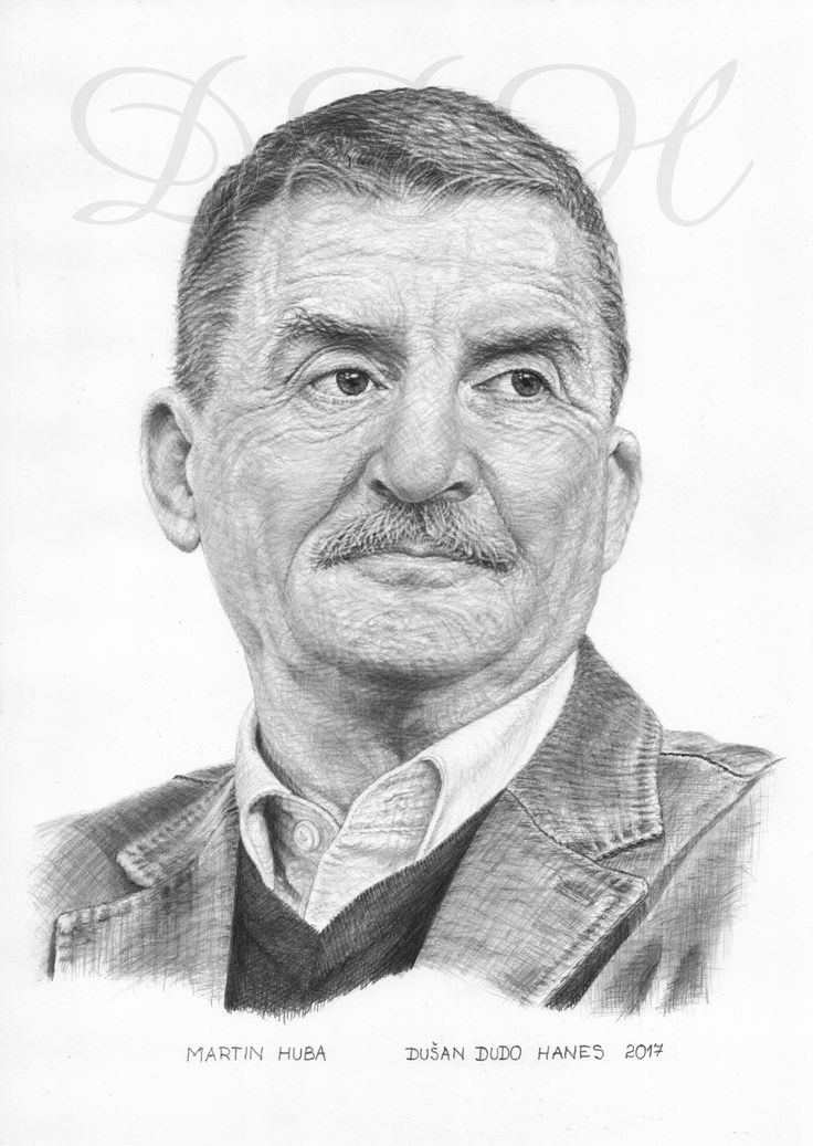 Martin Huba, portrét Dušan Dudo Hanes