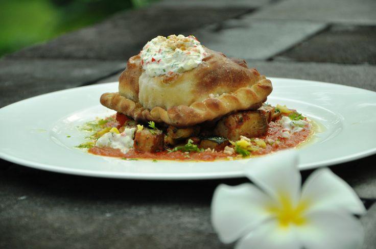 Spicy Chicken Samosa with orange sauce #HyattRegencyYogya