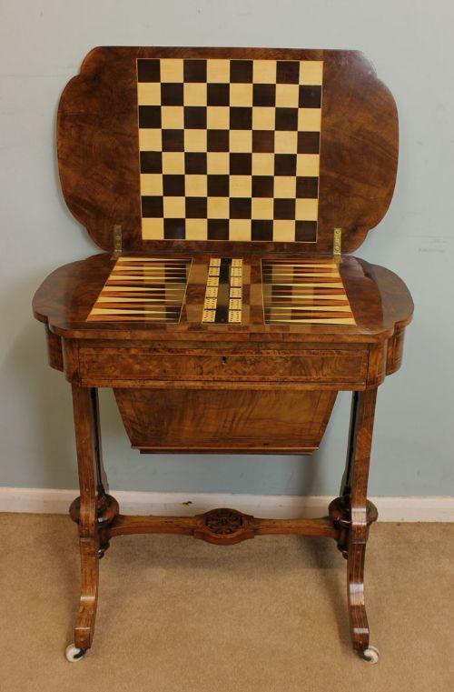 Walnut Wood Backgammon Table   Modern Games, Walnut Wood And Table Games