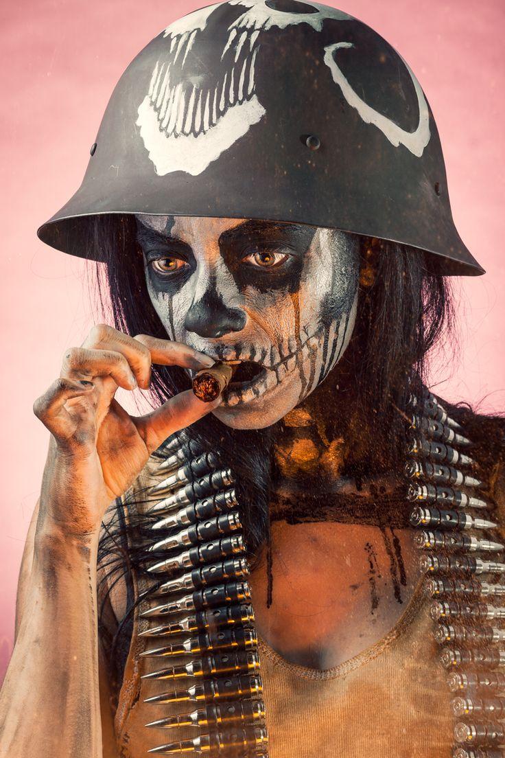 """Styvia Reckless"" — Photographer/Stylist/Helmet: Bryn DC Makeup: Helena Regina Model: Zia Electric"
