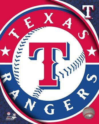 Framed 2011 Texas Rangers Team Logo Print