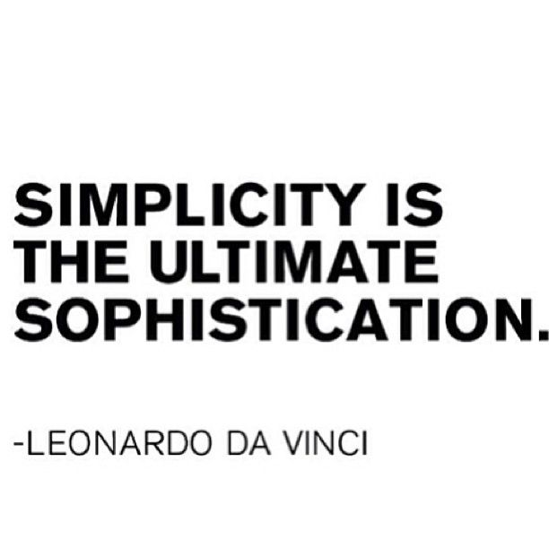 ** simplicity **