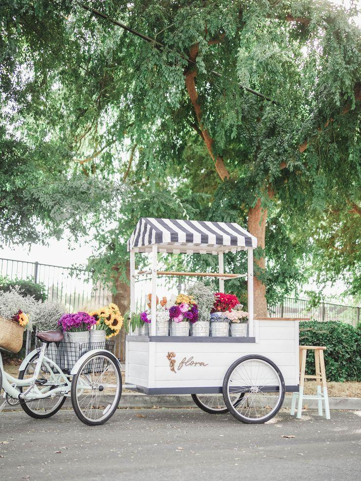Flora Flower Cart, Fresno Ca Flower cart, Flower truck