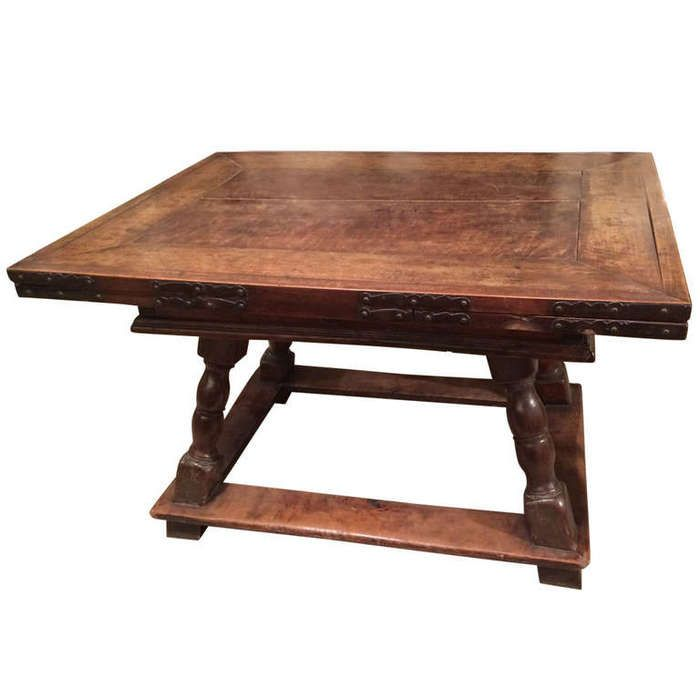 18th Century Swiss Or German Walnut And Wrought Iron Draw