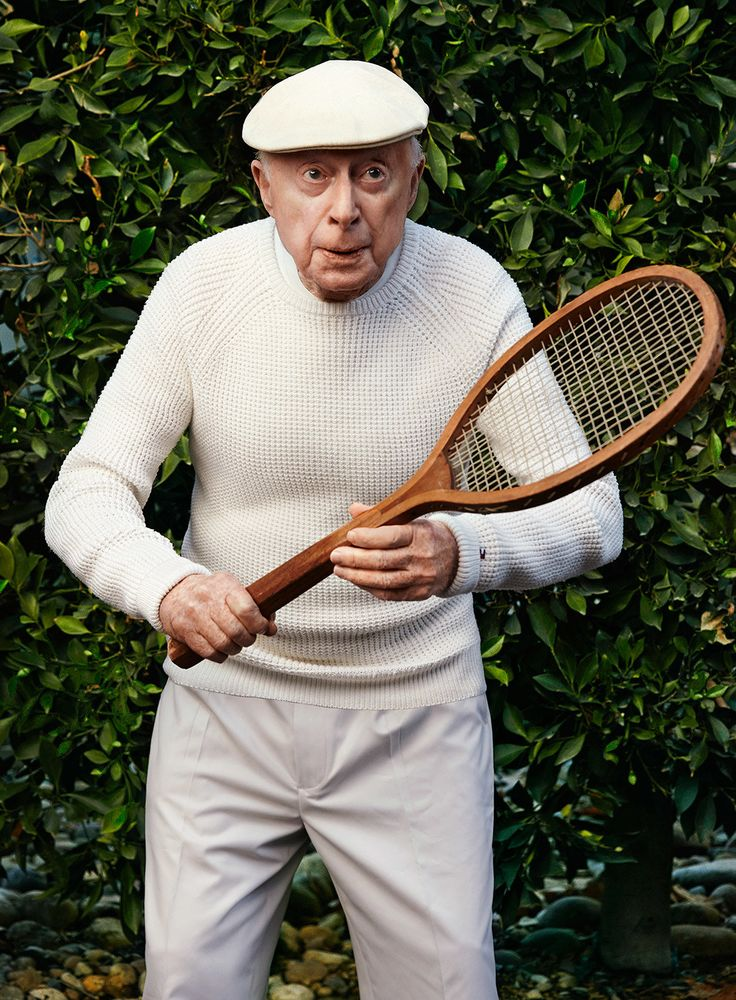 Norman Lloyd, photographed at home in Pacific Palisades, California. Photograph by Art Streiber.