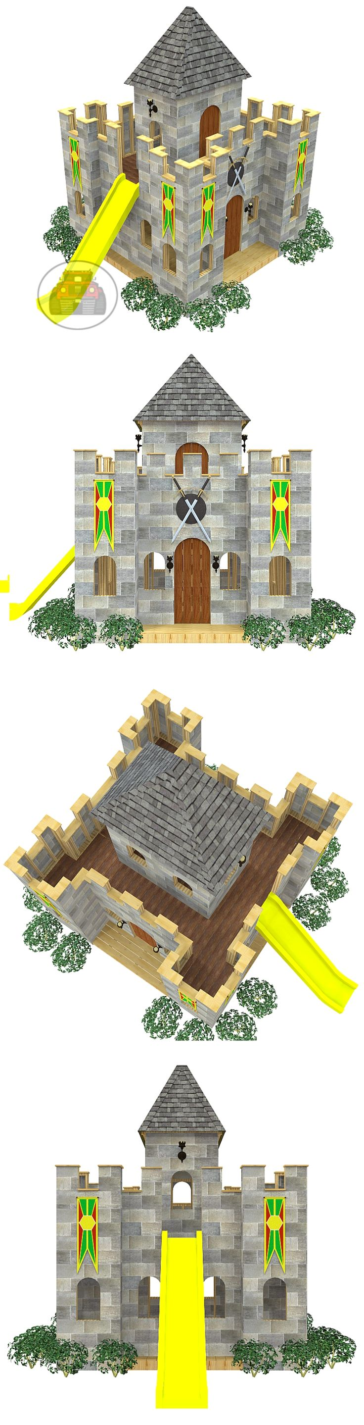 The castle playhouse plan, hosted on paulsplayhouses.com
