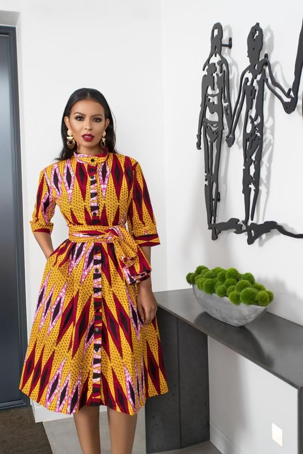 African Print Fina Shirt Dress African Print Fashion