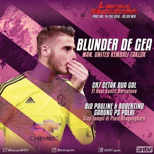 David de Gea in Social Media Lensa Olahraga ANTV. Graphic design material package